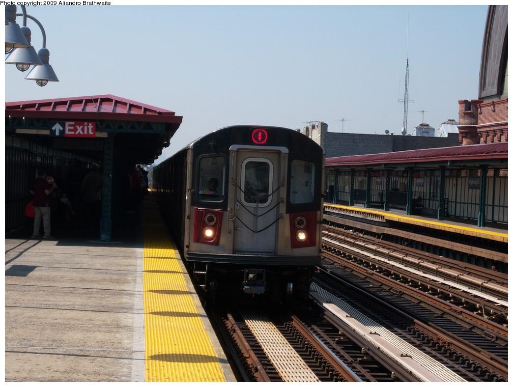 (232k, 1044x788)<br><b>Country:</b> United States<br><b>City:</b> New York<br><b>System:</b> New York City Transit<br><b>Line:</b> IRT Woodlawn Line<br><b>Location:</b> Kingsbridge Road <br><b>Route:</b> 4<br><b>Car:</b> R-142 (Option Order, Bombardier, 2002-2003)  1210 <br><b>Photo by:</b> Aliandro Brathwaite<br><b>Date:</b> 8/18/2009<br><b>Viewed (this week/total):</b> 0 / 1417
