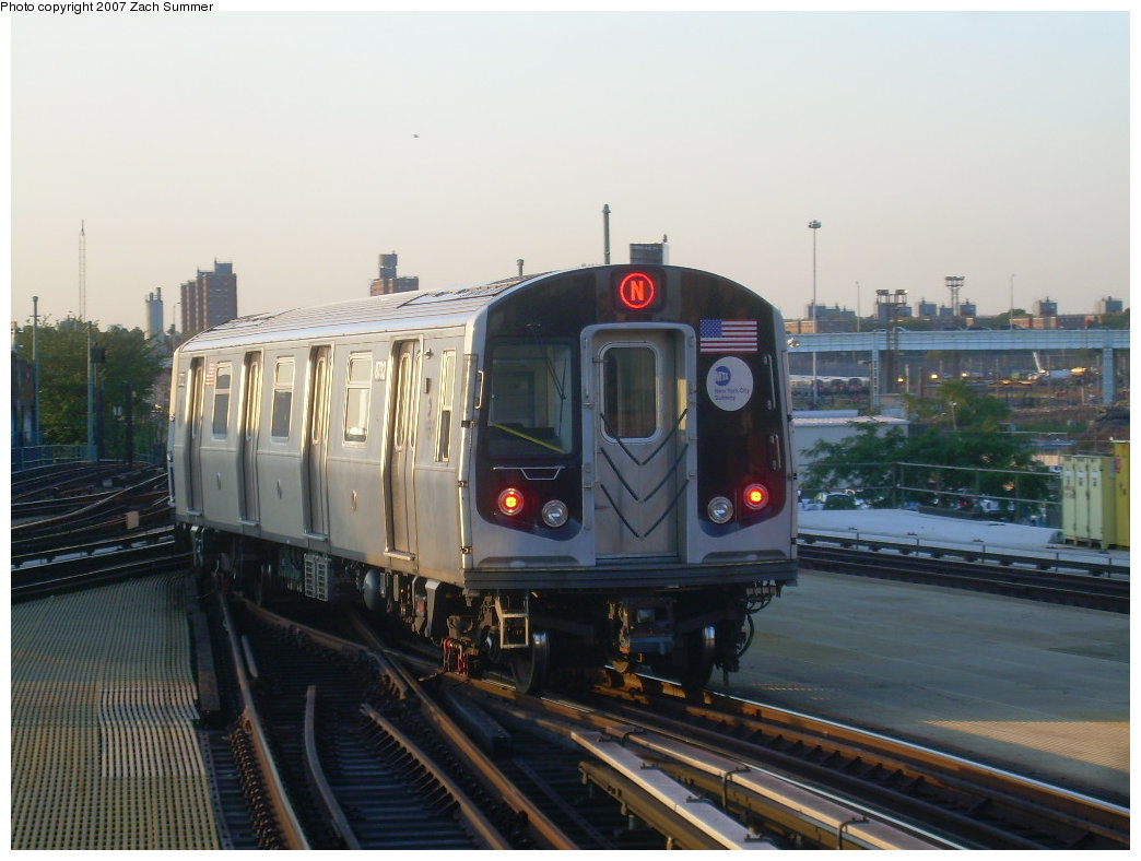 (178k, 1044x788)<br><b>Country:</b> United States<br><b>City:</b> New York<br><b>System:</b> New York City Transit<br><b>Location:</b> Coney Island/Stillwell Avenue<br><b>Route:</b> N<br><b>Car:</b> R-160B (Kawasaki, 2005-2008)  8732 <br><b>Photo by:</b> Zach Summer<br><b>Date:</b> 8/12/2007<br><b>Viewed (this week/total):</b> 0 / 2155