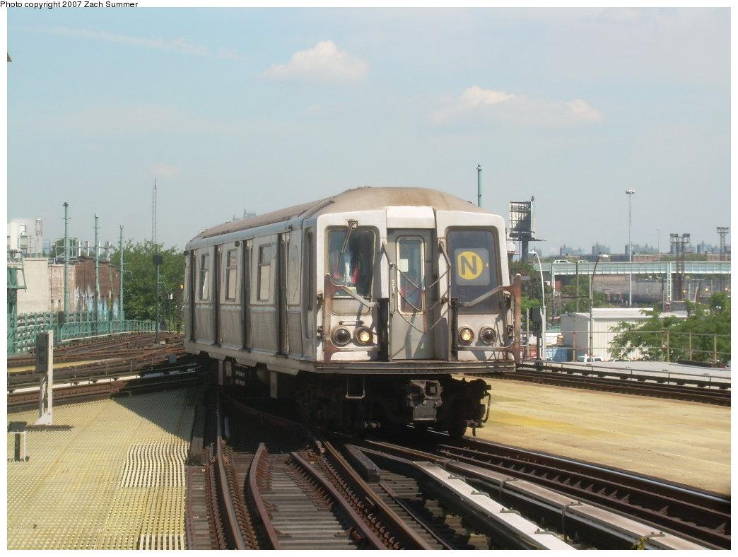 (190k, 1044x788)<br><b>Country:</b> United States<br><b>City:</b> New York<br><b>System:</b> New York City Transit<br><b>Location:</b> Coney Island/Stillwell Avenue<br><b>Route:</b> N<br><b>Car:</b> R-40 (St. Louis, 1968)  4394 <br><b>Photo by:</b> Zach Summer<br><b>Date:</b> 8/12/2007<br><b>Viewed (this week/total):</b> 9 / 1633