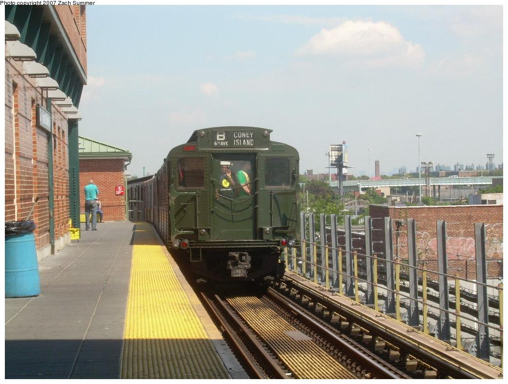(215k, 1044x788)<br><b>Country:</b> United States<br><b>City:</b> New York<br><b>System:</b> New York City Transit<br><b>Location:</b> Coney Island/Stillwell Avenue<br><b>Route:</b> Fan Trip<br><b>Car:</b> R-1 (American Car & Foundry, 1930-1931) 100 <br><b>Photo by:</b> Zach Summer<br><b>Date:</b> 8/12/2007<br><b>Viewed (this week/total):</b> 0 / 1959