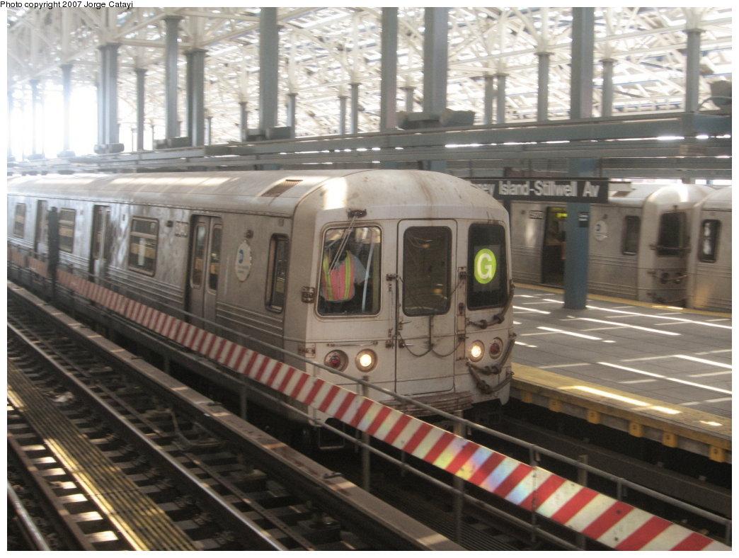 (170k, 1044x788)<br><b>Country:</b> United States<br><b>City:</b> New York<br><b>System:</b> New York City Transit<br><b>Location:</b> Coney Island/Stillwell Avenue<br><b>Route:</b> G<br><b>Car:</b> R-46 (Pullman-Standard, 1974-75) 6140 <br><b>Photo by:</b> Jorge Catayi<br><b>Date:</b> 8/12/2007<br><b>Viewed (this week/total):</b> 3 / 1778