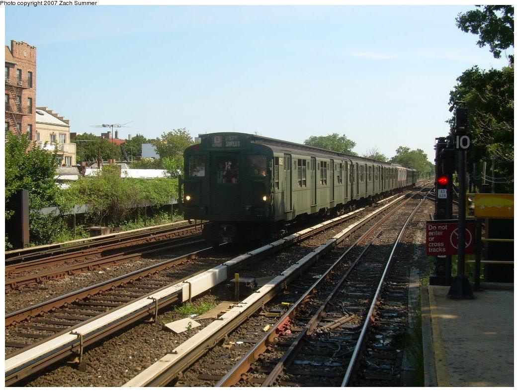 (250k, 1044x788)<br><b>Country:</b> United States<br><b>City:</b> New York<br><b>System:</b> New York City Transit<br><b>Line:</b> BMT Brighton Line<br><b>Location:</b> Kings Highway <br><b>Route:</b> Fan Trip<br><b>Car:</b> R-9 (Pressed Steel, 1940)  1802 <br><b>Photo by:</b> Zach Summer<br><b>Date:</b> 8/12/2007<br><b>Viewed (this week/total):</b> 2 / 1868