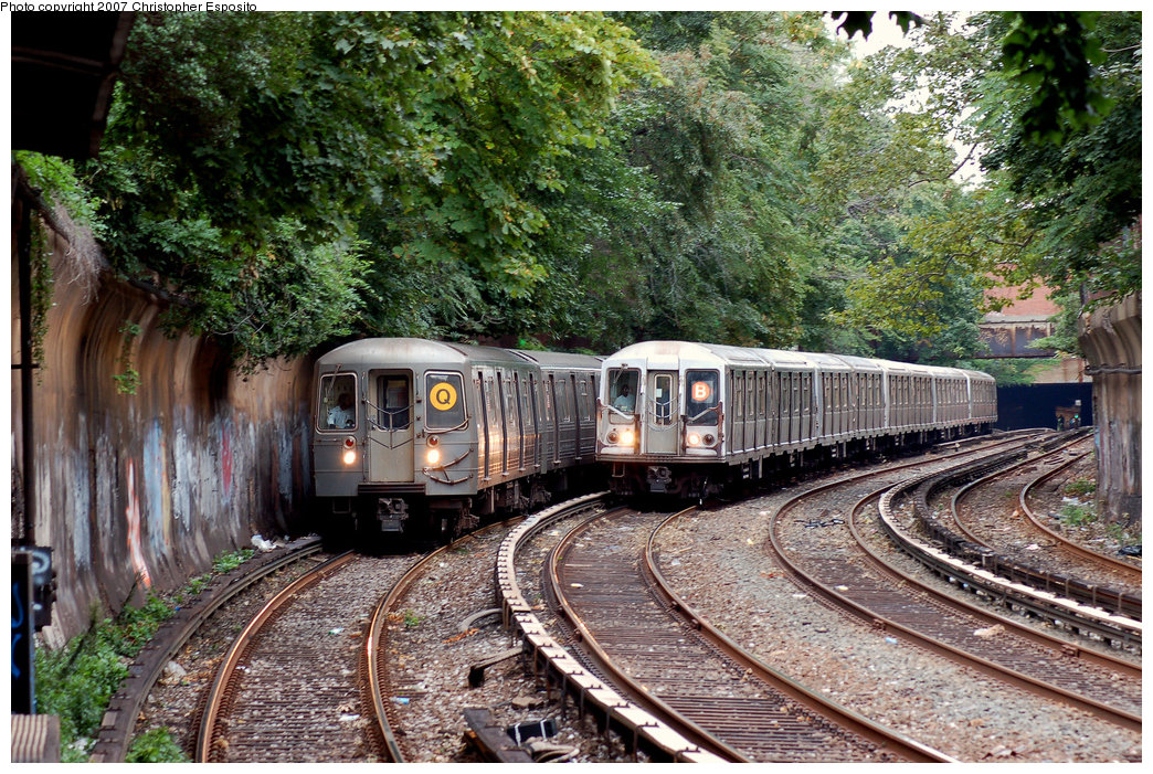 (318k, 1044x701)<br><b>Country:</b> United States<br><b>City:</b> New York<br><b>System:</b> New York City Transit<br><b>Line:</b> BMT Brighton Line<br><b>Location:</b> Beverley Road <br><b>Route:</b> Q<br><b>Car:</b> R-68A (Kawasaki, 1988-1989)   <br><b>Photo by:</b> Christopher Esposito<br><b>Date:</b> 8/22/2007<br><b>Viewed (this week/total):</b> 3 / 3141