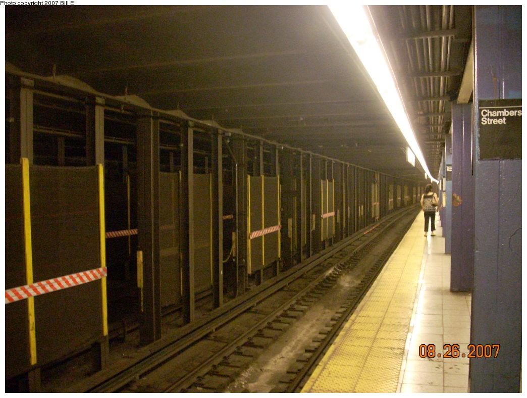 (206k, 1044x788)<br><b>Country:</b> United States<br><b>City:</b> New York<br><b>System:</b> New York City Transit<br><b>Line:</b> IND 8th Avenue Line<br><b>Location:</b> Chambers Street/World Trade Center <br><b>Photo by:</b> Bill E.<br><b>Date:</b> 8/26/2007<br><b>Viewed (this week/total):</b> 0 / 1628