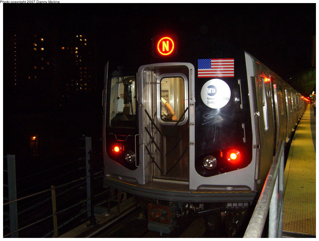 (187k, 1044x788)<br><b>Country:</b> United States<br><b>City:</b> New York<br><b>System:</b> New York City Transit<br><b>Location:</b> Coney Island/Stillwell Avenue<br><b>Route:</b> N<br><b>Car:</b> R-160B (Kawasaki, 2005-2008)  8852 <br><b>Photo by:</b> Danny Molina<br><b>Date:</b> 8/24/2007<br><b>Viewed (this week/total):</b> 0 / 2218