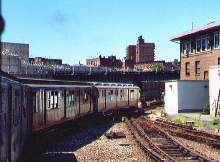 (116k, 717x527)<br><b>Country:</b> United States<br><b>City:</b> New York<br><b>System:</b> New York City Transit<br><b>Location:</b> 207th Street Yard<br><b>Route:</b> Fan Trip<br><b>Car:</b> R-7A (Pullman, 1938)  1575 <br><b>Photo by:</b> Bob Wright<br><b>Date:</b> 8/24/2003<br><b>Viewed (this week/total):</b> 0 / 1990