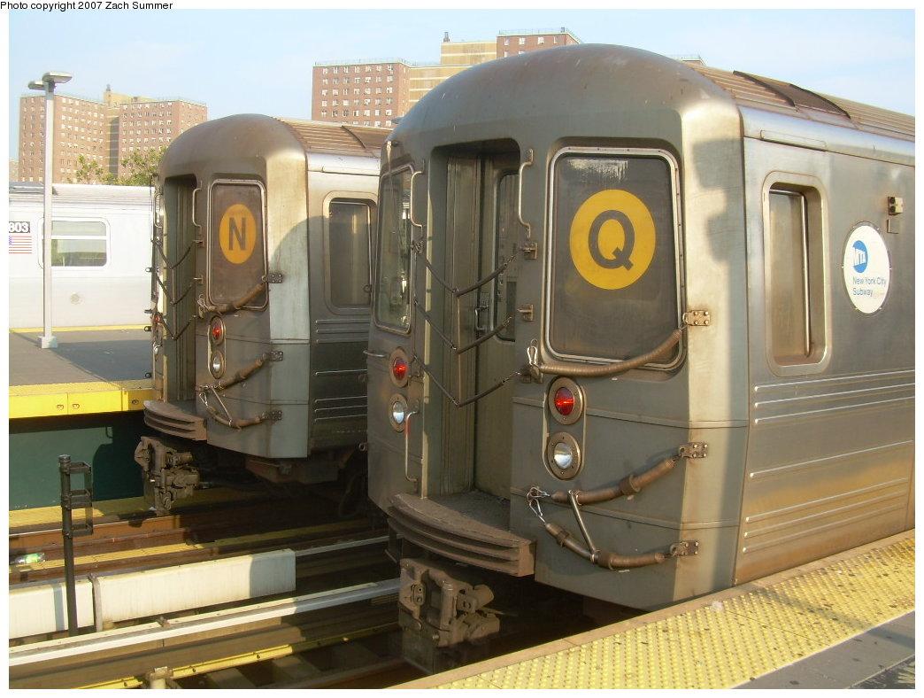 (198k, 1044x788)<br><b>Country:</b> United States<br><b>City:</b> New York<br><b>System:</b> New York City Transit<br><b>Location:</b> Coney Island/Stillwell Avenue<br><b>Route:</b> N/Q<br><b>Car:</b> R-68A (Kawasaki, 1988-1989)  5124/5200 <br><b>Photo by:</b> Zach Summer<br><b>Date:</b> 8/25/2007<br><b>Viewed (this week/total):</b> 3 / 2612