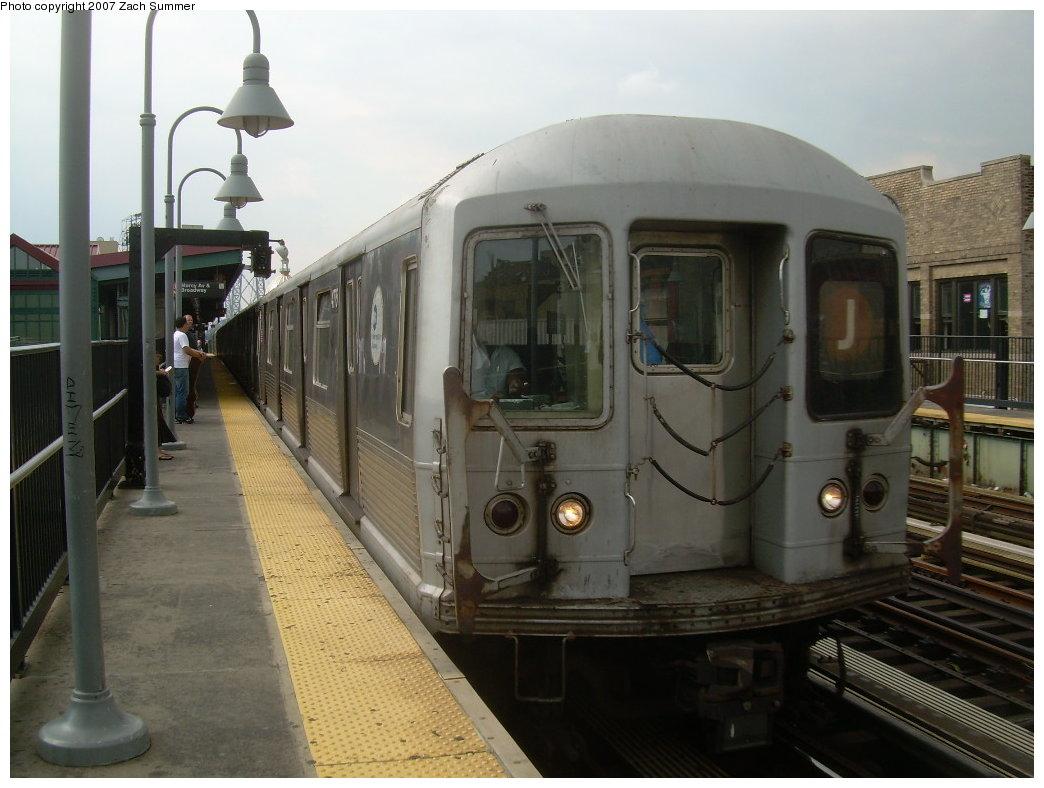 (181k, 1044x788)<br><b>Country:</b> United States<br><b>City:</b> New York<br><b>System:</b> New York City Transit<br><b>Line:</b> BMT Nassau Street/Jamaica Line<br><b>Location:</b> Marcy Avenue <br><b>Route:</b> J<br><b>Car:</b> R-42 (St. Louis, 1969-1970)  4775 <br><b>Photo by:</b> Zach Summer<br><b>Date:</b> 8/28/2007<br><b>Viewed (this week/total):</b> 0 / 1410