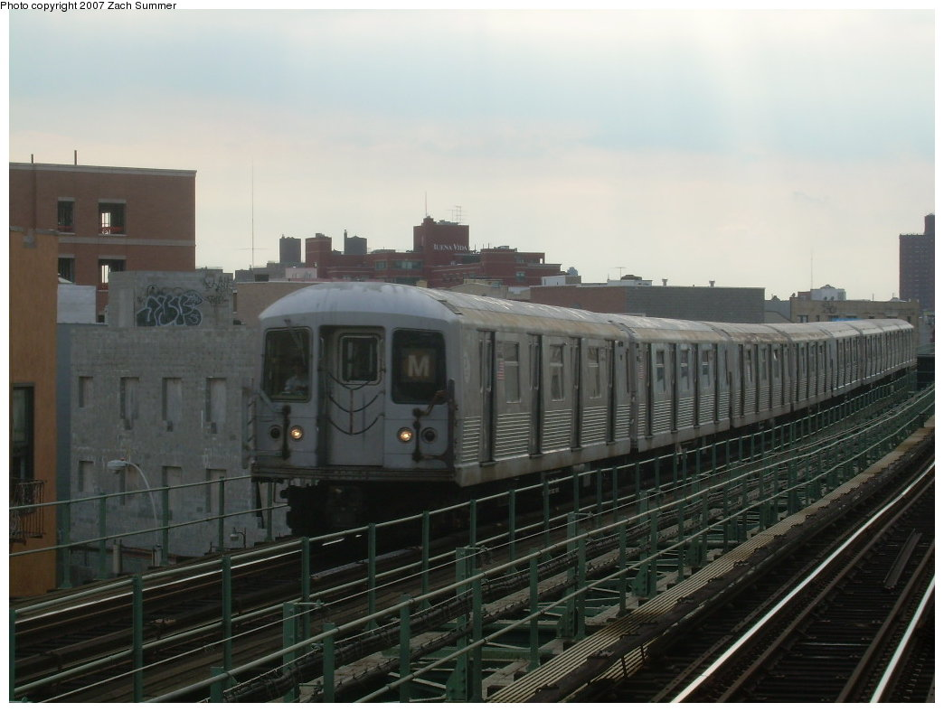 (171k, 1044x788)<br><b>Country:</b> United States<br><b>City:</b> New York<br><b>System:</b> New York City Transit<br><b>Line:</b> BMT Myrtle Avenue Line<br><b>Location:</b> Knickerbocker Avenue <br><b>Route:</b> M<br><b>Car:</b> R-42 (St. Louis, 1969-1970)  4745 <br><b>Photo by:</b> Zach Summer<br><b>Date:</b> 8/28/2007<br><b>Viewed (this week/total):</b> 0 / 2208
