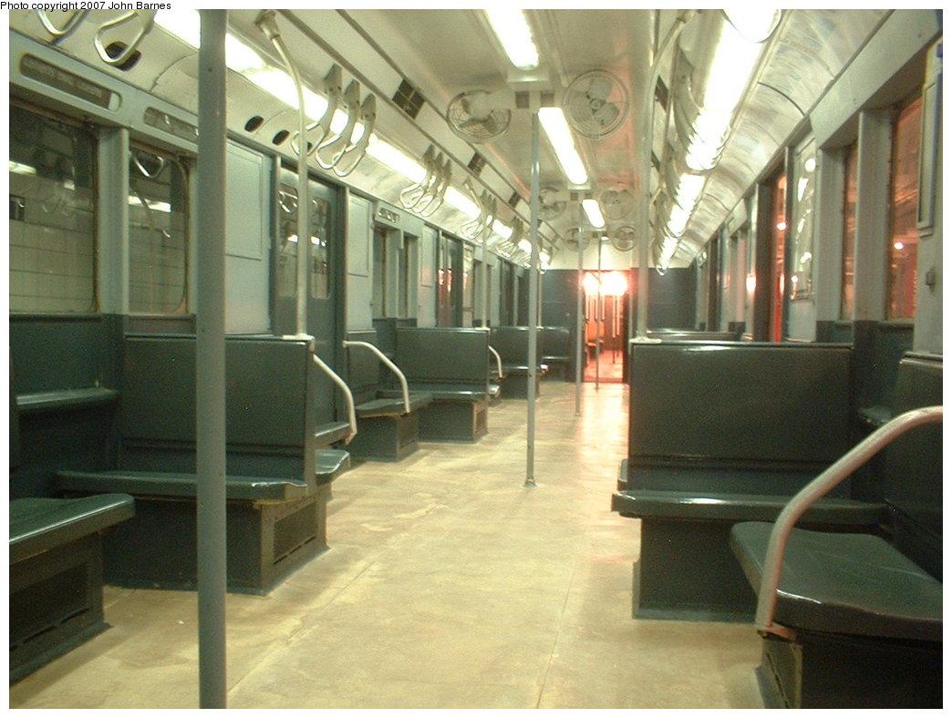 (177k, 1044x788)<br><b>Country:</b> United States<br><b>City:</b> New York<br><b>System:</b> New York City Transit<br><b>Location:</b> New York Transit Museum<br><b>Car:</b> R-10 (American Car & Foundry, 1948) 3184 <br><b>Photo by:</b> John Barnes<br><b>Date:</b> 5/19/2004<br><b>Viewed (this week/total):</b> 0 / 3221