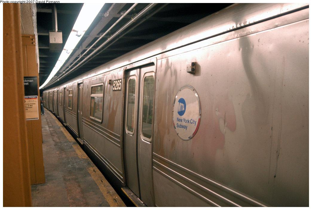(185k, 1044x701)<br><b>Country:</b> United States<br><b>City:</b> New York<br><b>System:</b> New York City Transit<br><b>Line:</b> IND 8th Avenue Line<br><b>Location:</b> Dyckman Street/200th Street <br><b>Route:</b> A<br><b>Car:</b> R-44 (St. Louis, 1971-73) 5265 <br><b>Photo by:</b> David Pirmann<br><b>Date:</b> 9/10/2007<br><b>Viewed (this week/total):</b> 0 / 2747