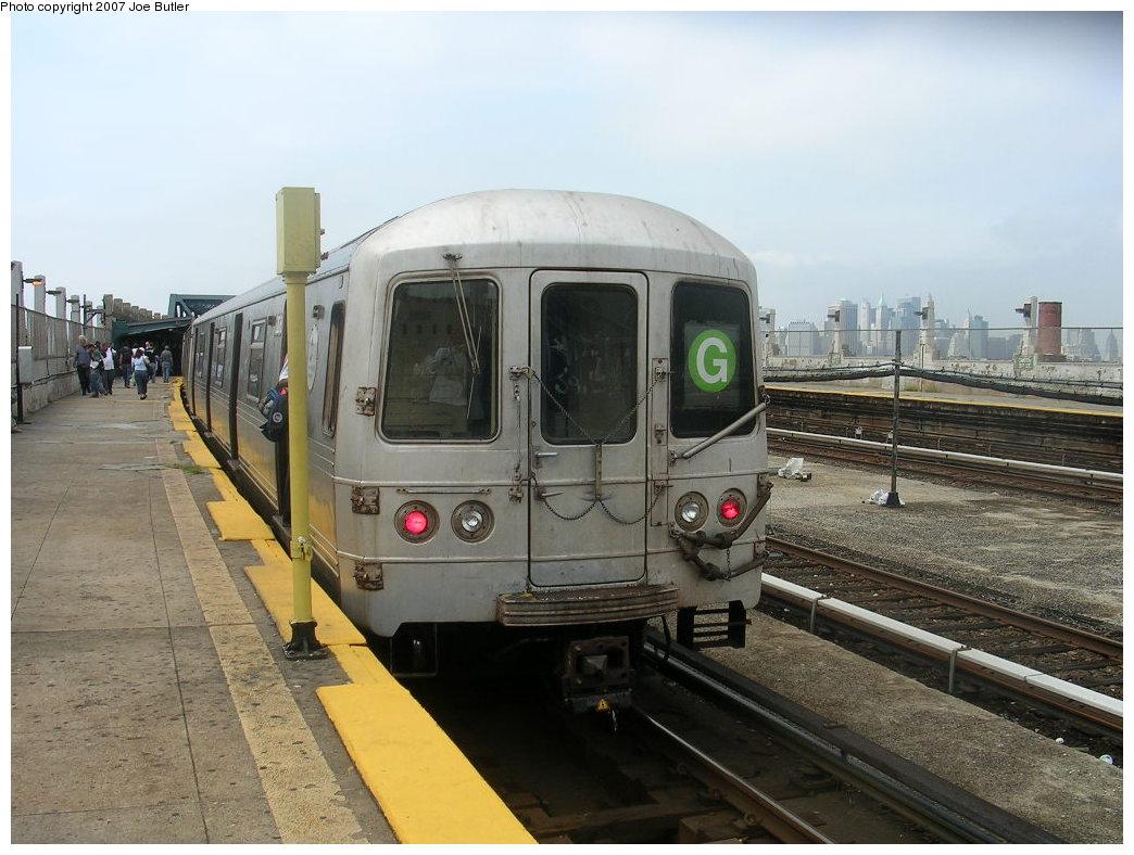 (198k, 1044x788)<br><b>Country:</b> United States<br><b>City:</b> New York<br><b>System:</b> New York City Transit<br><b>Line:</b> IND Crosstown Line<br><b>Location:</b> Smith/9th Street <br><b>Route:</b> G<br><b>Car:</b> R-46 (Pullman-Standard, 1974-75) 6206 <br><b>Photo by:</b> Joe Butler<br><b>Date:</b> 8/23/2007<br><b>Viewed (this week/total):</b> 1 / 2318