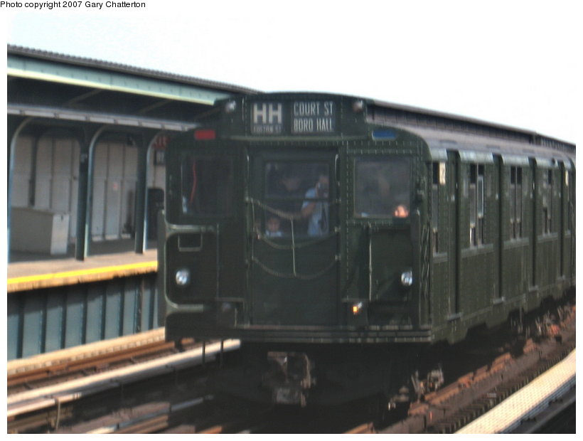 (71k, 820x620)<br><b>Country:</b> United States<br><b>City:</b> New York<br><b>System:</b> New York City Transit<br><b>Line:</b> IND Fulton Street Line<br><b>Location:</b> 104th Street/Oxford Ave. <br><b>Route:</b> Fan Trip<br><b>Car:</b> R-9 (Pressed Steel, 1940)  1802 <br><b>Photo by:</b> Gary Chatterton<br><b>Date:</b> 9/8/2007<br><b>Viewed (this week/total):</b> 0 / 1798