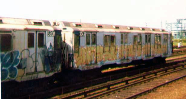(60k, 615x328)<br><b>Country:</b> United States<br><b>City:</b> New York<br><b>System:</b> New York City Transit<br><b>Location:</b> Rockaway Park Yard<br><b>Car:</b> R-10 (American Car & Foundry, 1948) 3043 <br><b>Photo by:</b> Bob Wright<br><b>Date:</b> 7/15/1978<br><b>Viewed (this week/total):</b> 9 / 2927