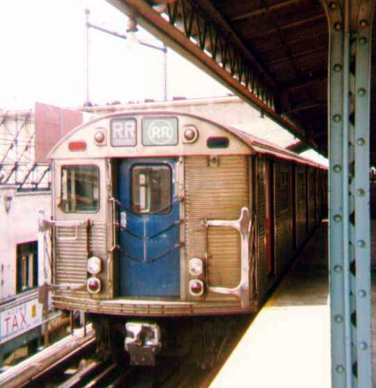 (98k, 541x559)<br><b>Country:</b> United States<br><b>City:</b> New York<br><b>System:</b> New York City Transit<br><b>Line:</b> BMT Astoria Line<br><b>Location:</b> Ditmars Boulevard <br><b>Route:</b> RR<br><b>Car:</b> R-32 (Budd, 1964)   <br><b>Photo by:</b> Bob Wright<br><b>Date:</b> 7/15/1978<br><b>Viewed (this week/total):</b> 0 / 3230