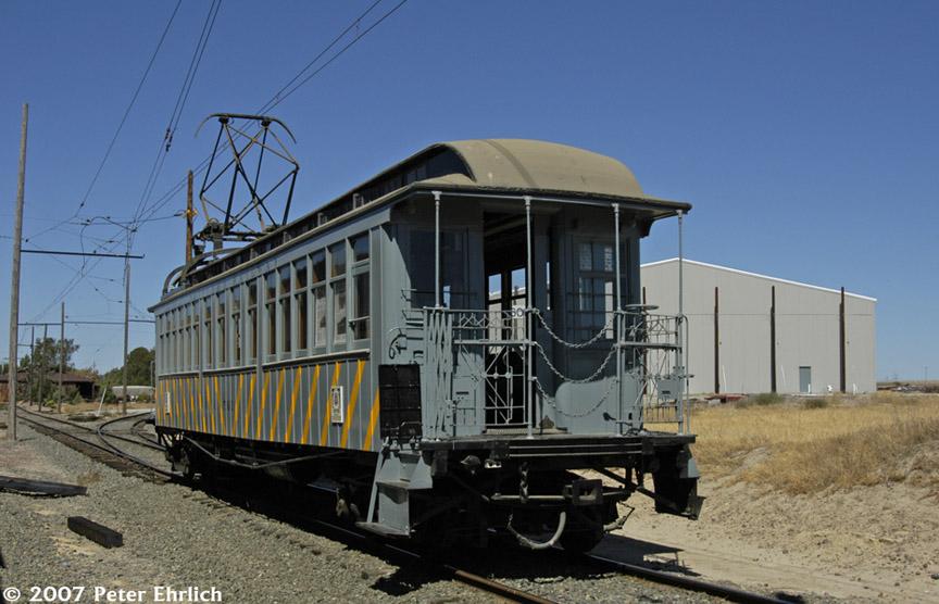 (169k, 864x556)<br><b>Country:</b> United States<br><b>City:</b> Rio Vista Junction, CA<br><b>System:</b> Western Railway Museum <br><b>Car:</b>  561 <br><b>Photo by:</b> Peter Ehrlich<br><b>Date:</b> 9/2/2007<br><b>Notes:</b> Shipyard Railway 561 (ex Manhattan El 844).  Loop split north of Diablo Vista.<br><b>Viewed (this week/total):</b> 1 / 3358