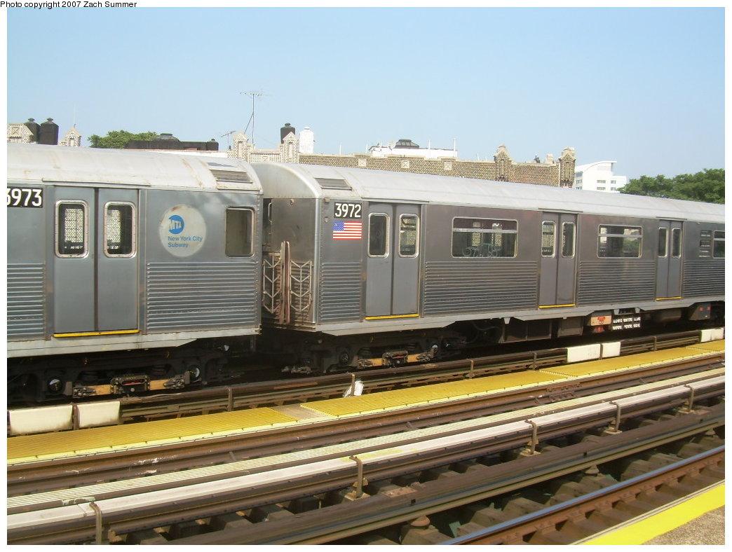 (206k, 1044x788)<br><b>Country:</b> United States<br><b>City:</b> New York<br><b>System:</b> New York City Transit<br><b>Line:</b> BMT West End Line<br><b>Location:</b> 50th Street <br><b>Route:</b> School car<br><b>Car:</b> R-38 (St. Louis, 1966-1967)  3973 <br><b>Photo by:</b> Zach Summer<br><b>Date:</b> 9/7/2007<br><b>Viewed (this week/total):</b> 0 / 1800