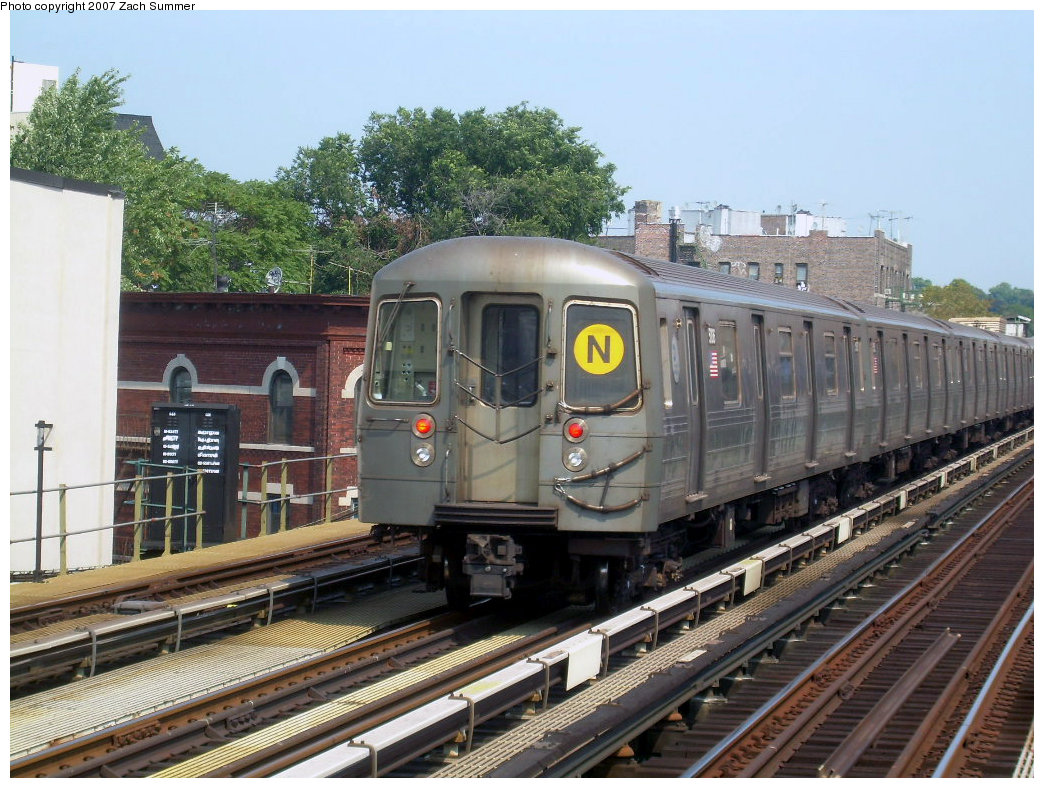 (250k, 1044x788)<br><b>Country:</b> United States<br><b>City:</b> New York<br><b>System:</b> New York City Transit<br><b>Line:</b> BMT West End Line<br><b>Location:</b> 50th Street <br><b>Route:</b> N<br><b>Car:</b> R-68A (Kawasaki, 1988-1989)  5106 <br><b>Photo by:</b> Zach Summer<br><b>Date:</b> 9/7/2007<br><b>Viewed (this week/total):</b> 2 / 1692