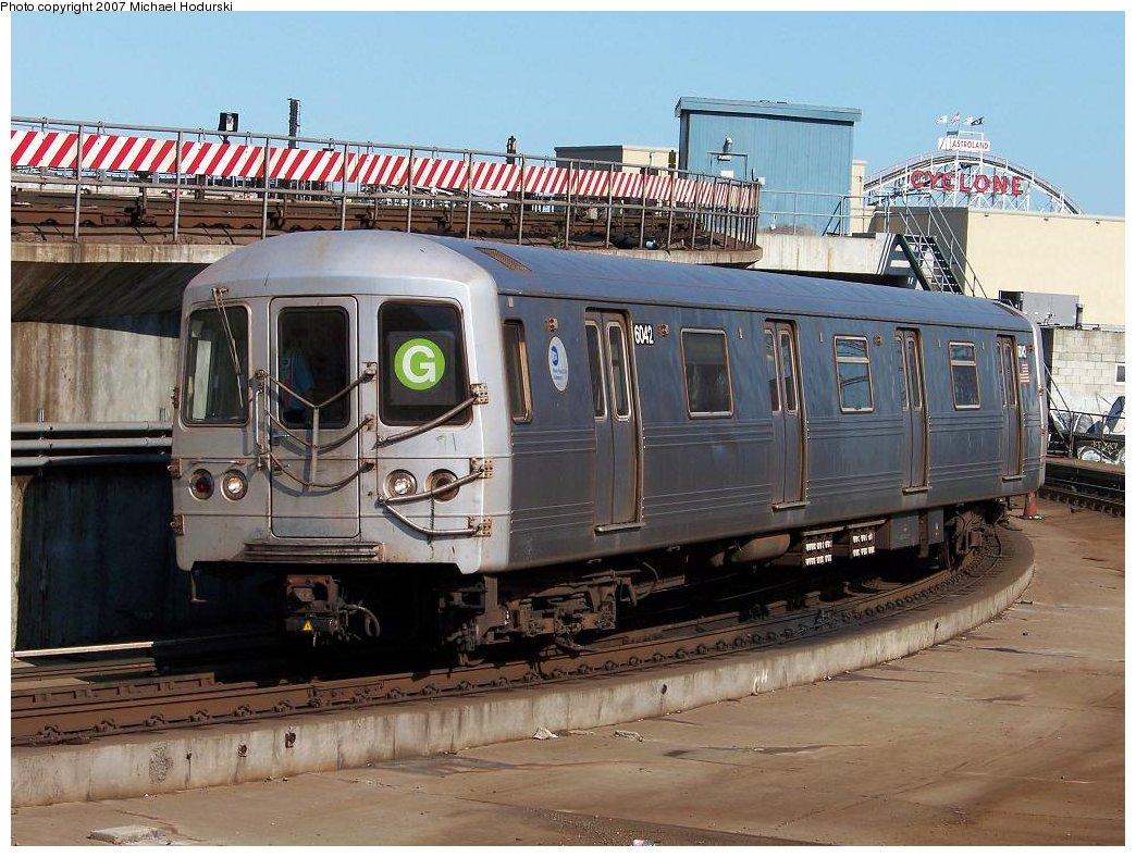 (201k, 1044x788)<br><b>Country:</b> United States<br><b>City:</b> New York<br><b>System:</b> New York City Transit<br><b>Location:</b> Coney Island/Stillwell Avenue<br><b>Route:</b> G<br><b>Car:</b> R-46 (Pullman-Standard, 1974-75) 6042 <br><b>Photo by:</b> Michael Hodurski<br><b>Date:</b> 8/11/2007<br><b>Viewed (this week/total):</b> 0 / 3062