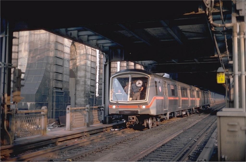 (167k, 1024x675)<br><b>Country:</b> United States<br><b>City:</b> New York<br><b>System:</b> New York City Transit<br><b>Location:</b> Manhattan Bridge<br><b>Car:</b> SOAC  <br><b>Photo by:</b> Steve Zabel<br><b>Collection of:</b> Joe Testagrose<br><b>Date:</b> 6/18/1974<br><b>Viewed (this week/total):</b> 6 / 4634