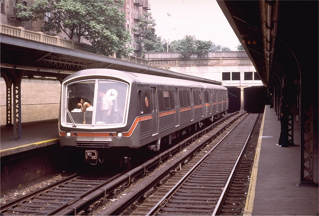 (264k, 1024x694)<br><b>Country:</b> United States<br><b>City:</b> New York<br><b>System:</b> New York City Transit<br><b>Line:</b> BMT Brighton Line<br><b>Location:</b> Prospect Park <br><b>Car:</b> SOAC  <br><b>Photo by:</b> Alan Bromberger<br><b>Collection of:</b> Joe Testagrose<br><b>Date:</b> 7/17/1974<br><b>Viewed (this week/total):</b> 2 / 4855