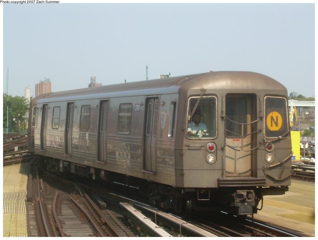 (163k, 1044x788)<br><b>Country:</b> United States<br><b>City:</b> New York<br><b>System:</b> New York City Transit<br><b>Location:</b> Coney Island/Stillwell Avenue<br><b>Route:</b> N<br><b>Car:</b> R-68 (Westinghouse-Amrail, 1986-1988)  2790 <br><b>Photo by:</b> Zach Summer<br><b>Date:</b> 9/8/2007<br><b>Viewed (this week/total):</b> 0 / 1851