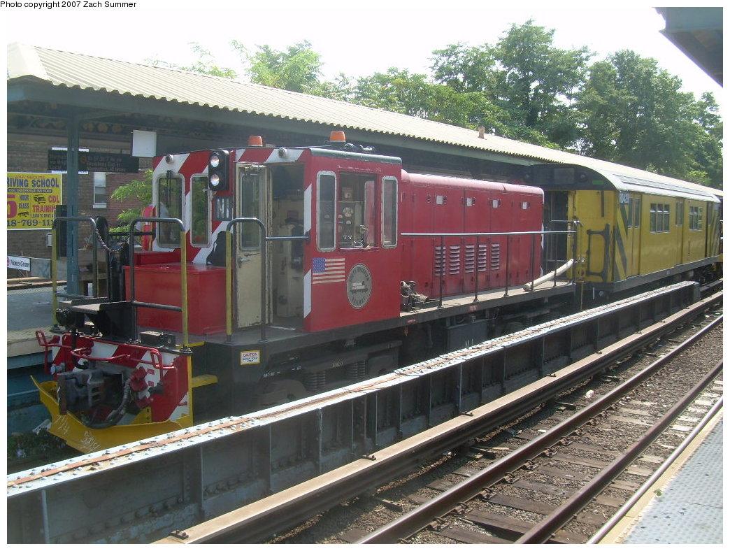 (253k, 1044x788)<br><b>Country:</b> United States<br><b>City:</b> New York<br><b>System:</b> New York City Transit<br><b>Line:</b> BMT Brighton Line<br><b>Location:</b> Sheepshead Bay <br><b>Route:</b> Work Service<br><b>Car:</b> R-47 (SBK) Locomotive  N1 <br><b>Photo by:</b> Zach Summer<br><b>Date:</b> 9/8/2007<br><b>Viewed (this week/total):</b> 1 / 1564