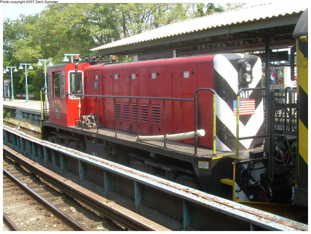 (264k, 1044x788)<br><b>Country:</b> United States<br><b>City:</b> New York<br><b>System:</b> New York City Transit<br><b>Line:</b> BMT Brighton Line<br><b>Location:</b> Sheepshead Bay <br><b>Route:</b> Work Service<br><b>Car:</b> R-47 (SBK) Locomotive  N1 <br><b>Photo by:</b> Zach Summer<br><b>Date:</b> 9/8/2007<br><b>Viewed (this week/total):</b> 0 / 1640