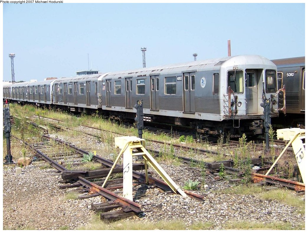 (270k, 1044x788)<br><b>Country:</b> United States<br><b>City:</b> New York<br><b>System:</b> New York City Transit<br><b>Location:</b> Coney Island Yard<br><b>Car:</b> R-42 (St. Louis, 1969-1970)  4893 <br><b>Photo by:</b> Michael Hodurski<br><b>Date:</b> 9/8/2007<br><b>Viewed (this week/total):</b> 0 / 1630