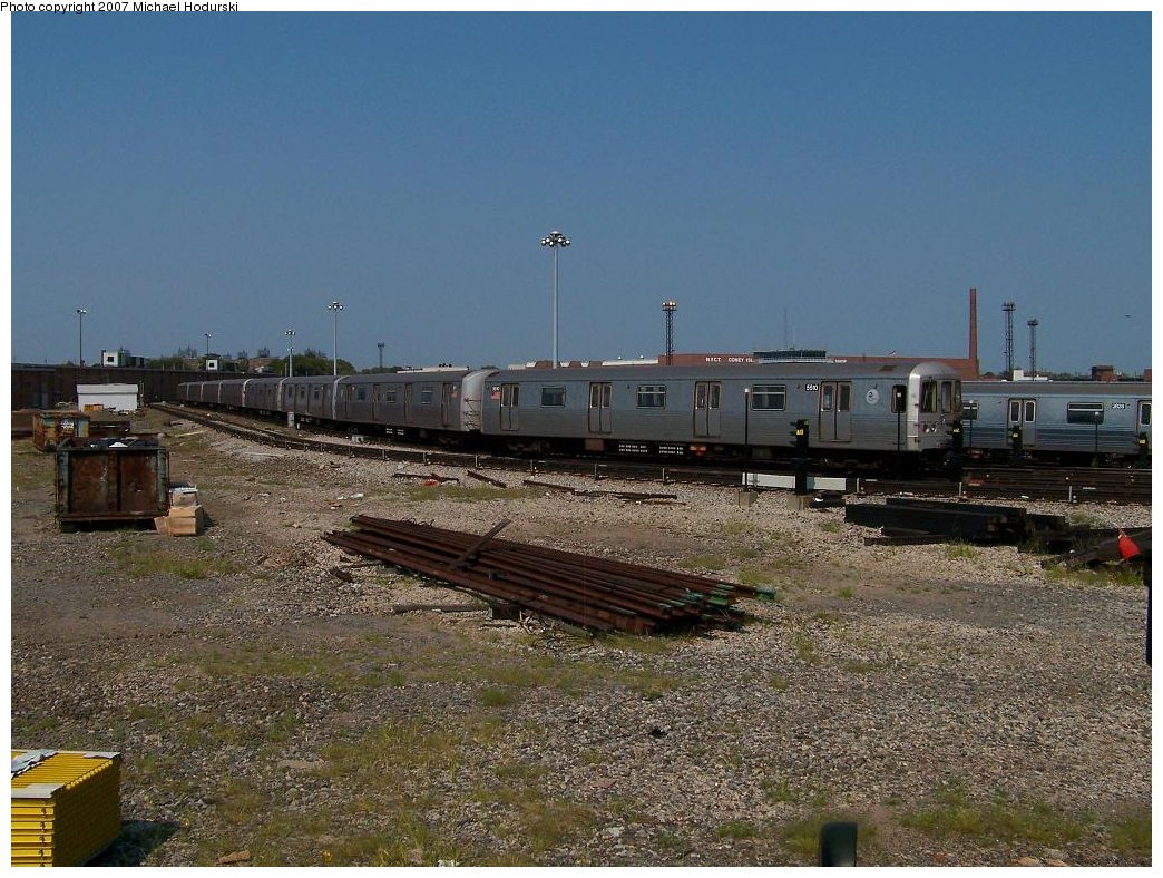 (215k, 1044x788)<br><b>Country:</b> United States<br><b>City:</b> New York<br><b>System:</b> New York City Transit<br><b>Location:</b> Coney Island Yard<br><b>Car:</b> R-46 (Pullman-Standard, 1974-75) 5510 <br><b>Photo by:</b> Michael Hodurski<br><b>Date:</b> 9/8/2007<br><b>Viewed (this week/total):</b> 0 / 1993