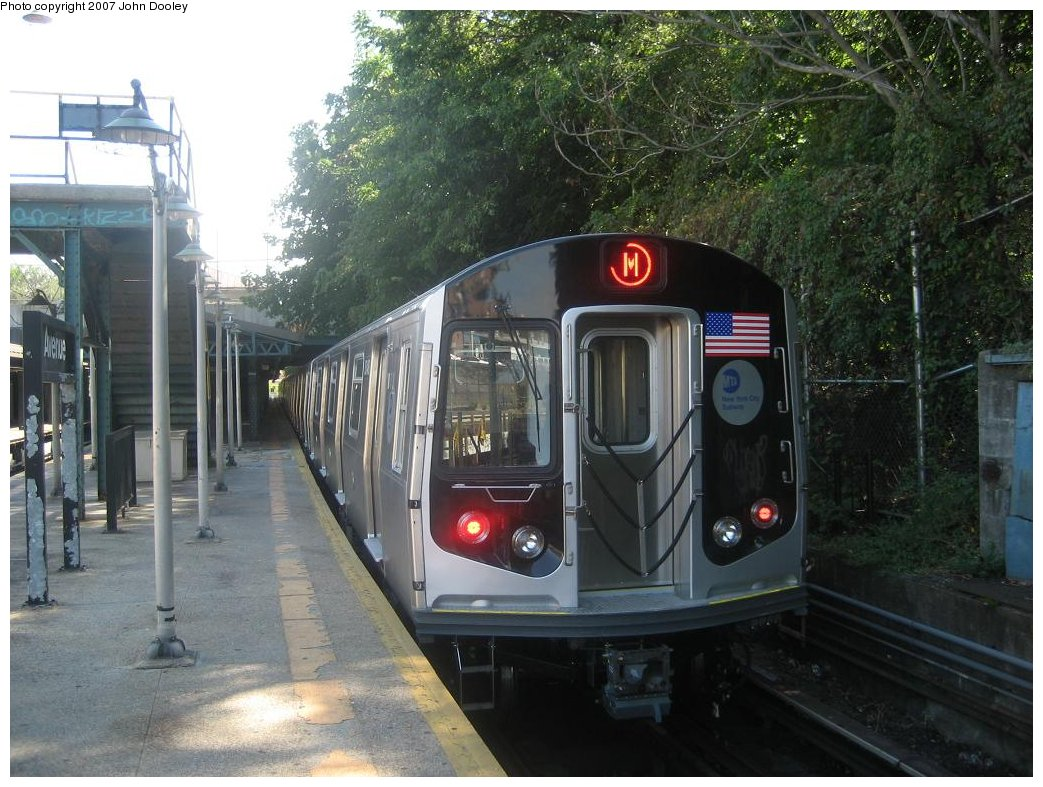 (190k, 1043x787)<br><b>Country:</b> United States<br><b>City:</b> New York<br><b>System:</b> New York City Transit<br><b>Line:</b> BMT West End Line<br><b>Location:</b> 9th Avenue <br><b>Route:</b> Testing<br><b>Car:</b> R-160A-1 (Alstom, 2005-2008, 4 car sets)  8348 <br><b>Photo by:</b> John Dooley<br><b>Date:</b> 9/20/2007<br><b>Viewed (this week/total):</b> 2 / 3918