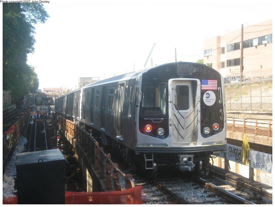 (143k, 1043x787)<br><b>Country:</b> United States<br><b>City:</b> New York<br><b>System:</b> New York City Transit<br><b>Line:</b> BMT West End Line<br><b>Location:</b> 9th Avenue <br><b>Route:</b> Testing<br><b>Car:</b> R-160A-1 (Alstom, 2005-2008, 4 car sets)  8377 <br><b>Photo by:</b> John Dooley<br><b>Date:</b> 9/20/2007<br><b>Viewed (this week/total):</b> 0 / 2540