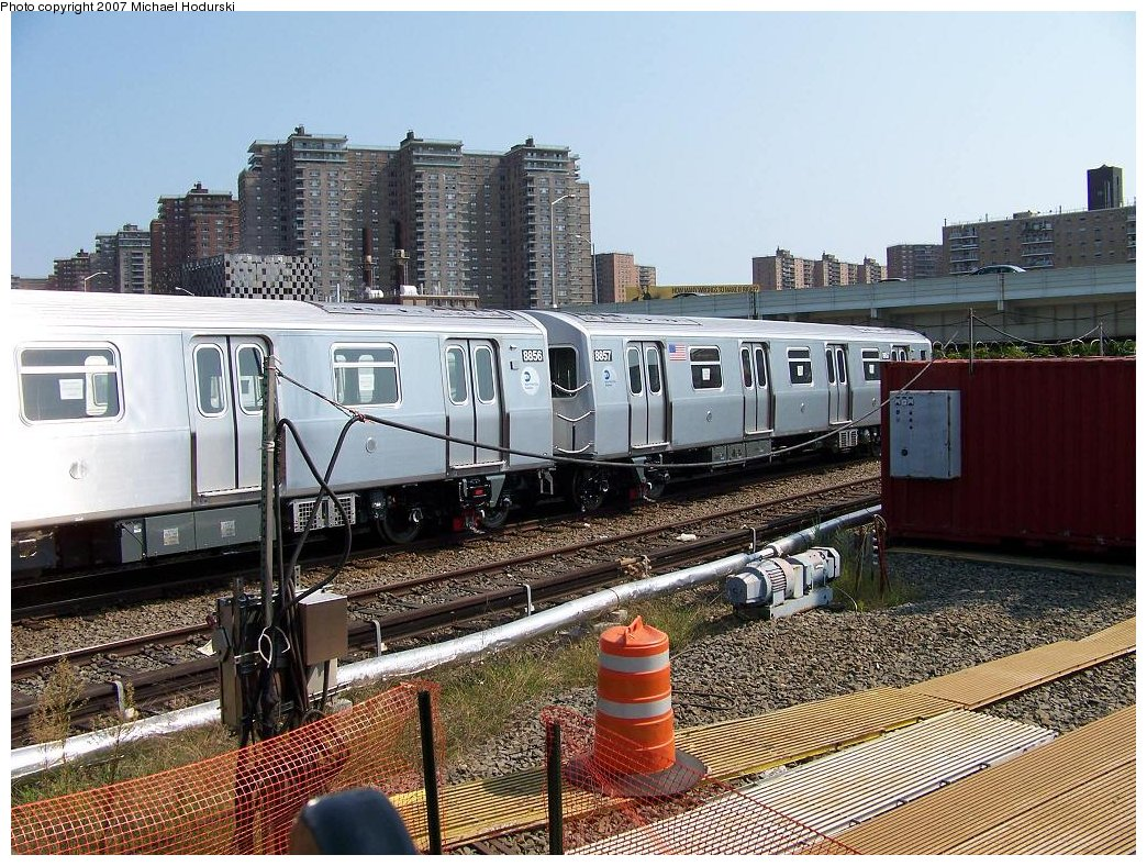 (258k, 1044x788)<br><b>Country:</b> United States<br><b>City:</b> New York<br><b>System:</b> New York City Transit<br><b>Location:</b> Coney Island Yard<br><b>Car:</b> R-160B (Kawasaki, 2005-2008)  8857 <br><b>Photo by:</b> Michael Hodurski<br><b>Date:</b> 9/8/2007<br><b>Viewed (this week/total):</b> 0 / 2439