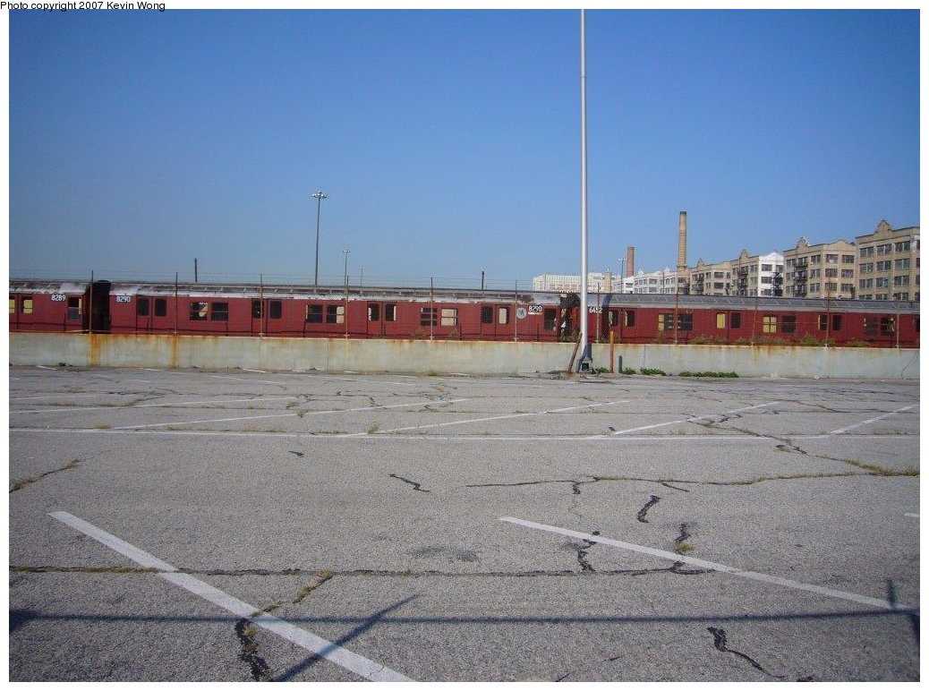 (168k, 1038x772)<br><b>Country:</b> United States<br><b>City:</b> New York<br><b>System:</b> New York City Transit<br><b>Line:</b> South Brooklyn Railway<br><b>Location:</b> SBK Yard (2nd Ave at 38th St.) (SBK)<br><b>Car:</b> R-30 (St. Louis, 1961) 8290 <br><b>Photo by:</b> Kevin Wong<br><b>Date:</b> 9/5/2007<br><b>Notes:</b> With R16 6452<br><b>Viewed (this week/total):</b> 4 / 2720