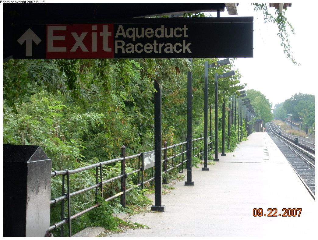 (236k, 1044x788)<br><b>Country:</b> United States<br><b>City:</b> New York<br><b>System:</b> New York City Transit<br><b>Line:</b> IND Rockaway<br><b>Location:</b> Aqueduct/North Conduit Avenue <br><b>Photo by:</b> Bill E.<br><b>Date:</b> 9/22/2007<br><b>Viewed (this week/total):</b> 0 / 1254