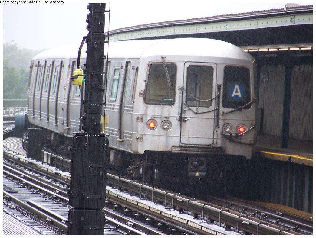 (179k, 1044x788)<br><b>Country:</b> United States<br><b>City:</b> New York<br><b>System:</b> New York City Transit<br><b>Line:</b> IND Fulton Street Line<br><b>Location:</b> Rockaway Boulevard <br><b>Route:</b> A<br><b>Car:</b> R-44 (St. Louis, 1971-73) 5330 <br><b>Photo by:</b> Philip D'Allesandro<br><b>Date:</b> 9/22/2007<br><b>Viewed (this week/total):</b> 3 / 1801