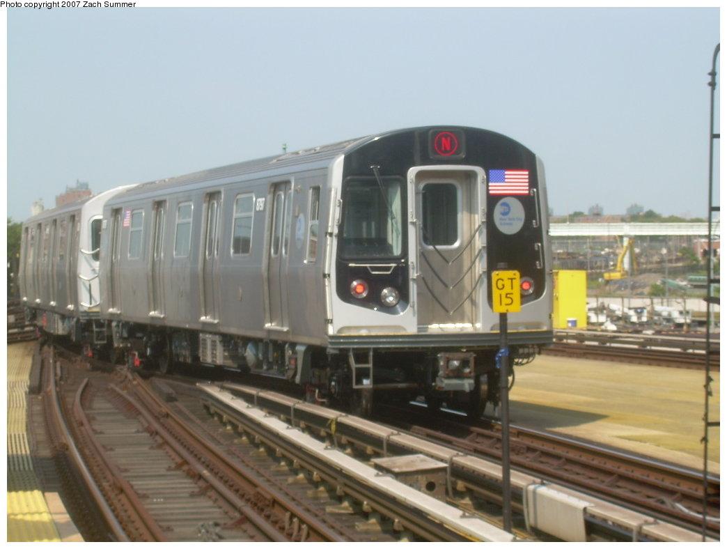 (158k, 1044x788)<br><b>Country:</b> United States<br><b>City:</b> New York<br><b>System:</b> New York City Transit<br><b>Location:</b> Coney Island/Stillwell Avenue<br><b>Route:</b> N<br><b>Car:</b> R-160B (Kawasaki, 2005-2008)  8797 <br><b>Photo by:</b> Zach Summer<br><b>Date:</b> 9/8/2007<br><b>Viewed (this week/total):</b> 0 / 2557