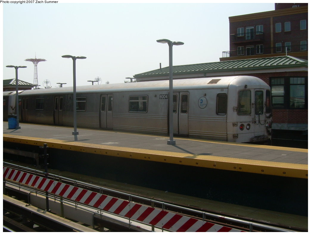 (167k, 1044x788)<br><b>Country:</b> United States<br><b>City:</b> New York<br><b>System:</b> New York City Transit<br><b>Location:</b> Coney Island/Stillwell Avenue<br><b>Route:</b> F<br><b>Car:</b> R-46 (Pullman-Standard, 1974-75) 6001 <br><b>Photo by:</b> Zach Summer<br><b>Date:</b> 9/8/2007<br><b>Viewed (this week/total):</b> 1 / 2023