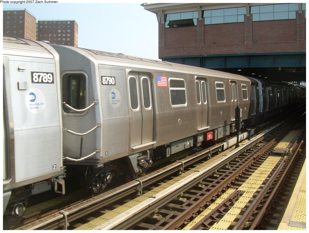 (222k, 1044x788)<br><b>Country:</b> United States<br><b>City:</b> New York<br><b>System:</b> New York City Transit<br><b>Location:</b> Coney Island/Stillwell Avenue<br><b>Route:</b> N<br><b>Car:</b> R-160B (Kawasaki, 2005-2008)  8790 <br><b>Photo by:</b> Zach Summer<br><b>Date:</b> 9/8/2007<br><b>Viewed (this week/total):</b> 2 / 2157