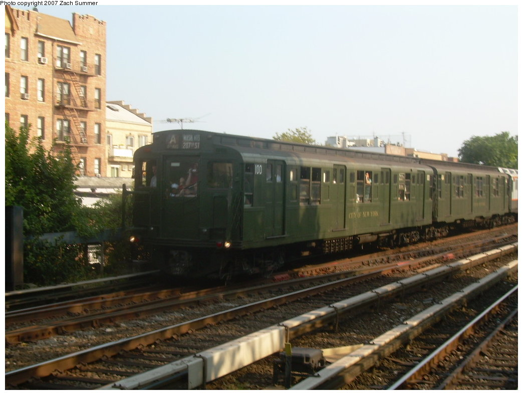 (180k, 1044x788)<br><b>Country:</b> United States<br><b>City:</b> New York<br><b>System:</b> New York City Transit<br><b>Line:</b> BMT Brighton Line<br><b>Location:</b> Kings Highway <br><b>Route:</b> Fan Trip<br><b>Car:</b> R-1 (American Car & Foundry, 1930-1931) 100 <br><b>Photo by:</b> Zach Summer<br><b>Date:</b> 9/8/2007<br><b>Viewed (this week/total):</b> 1 / 1583