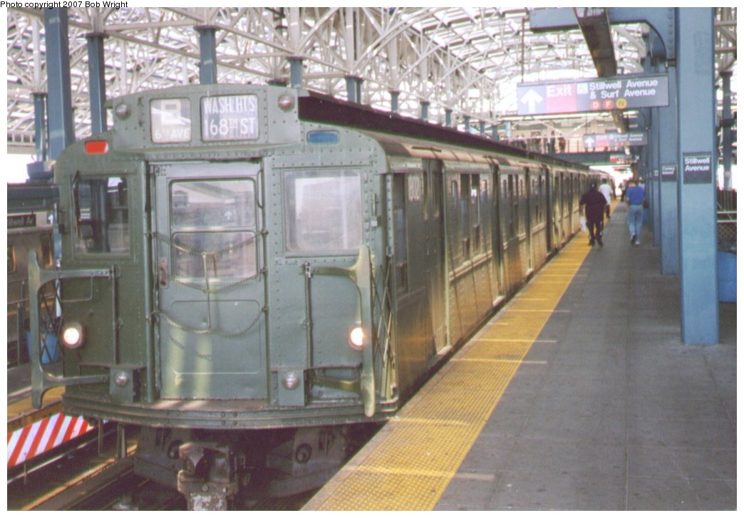(137k, 1044x727)<br><b>Country:</b> United States<br><b>City:</b> New York<br><b>System:</b> New York City Transit<br><b>Location:</b> Coney Island/Stillwell Avenue<br><b>Route:</b> Fan Trip<br><b>Car:</b> R-9 (Pressed Steel, 1940)  1802 <br><b>Photo by:</b> Bob Wright<br><b>Date:</b> 8/20/2006<br><b>Viewed (this week/total):</b> 0 / 1596