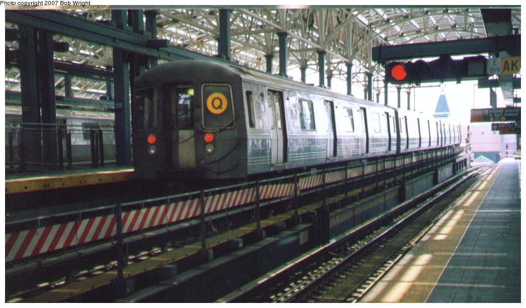 (136k, 1044x612)<br><b>Country:</b> United States<br><b>City:</b> New York<br><b>System:</b> New York City Transit<br><b>Location:</b> Coney Island/Stillwell Avenue<br><b>Route:</b> Q<br><b>Car:</b> R-68/R-68A Series (Number Unknown)  <br><b>Photo by:</b> Bob Wright<br><b>Date:</b> 8/20/2006<br><b>Viewed (this week/total):</b> 3 / 2022
