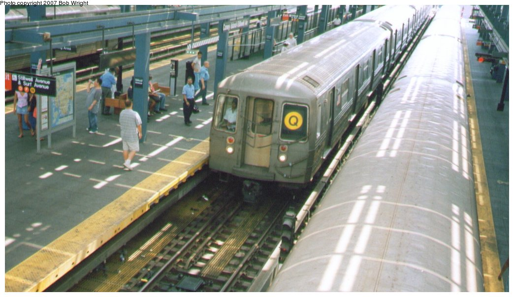 (124k, 1044x604)<br><b>Country:</b> United States<br><b>City:</b> New York<br><b>System:</b> New York City Transit<br><b>Location:</b> Coney Island/Stillwell Avenue<br><b>Route:</b> Q<br><b>Car:</b> R-68/R-68A Series (Number Unknown)  <br><b>Photo by:</b> Bob Wright<br><b>Date:</b> 8/20/2006<br><b>Viewed (this week/total):</b> 0 / 1869