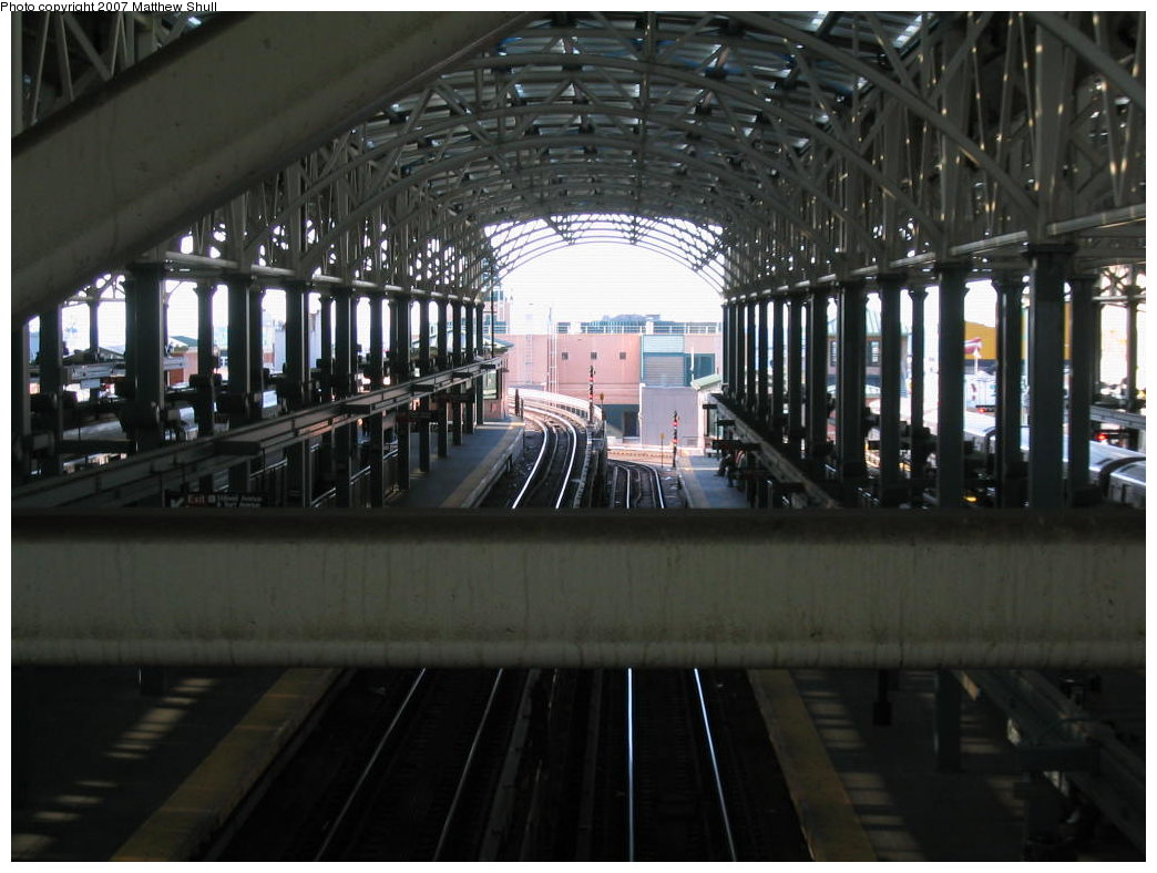 (155k, 1044x788)<br><b>Country:</b> United States<br><b>City:</b> New York<br><b>System:</b> New York City Transit<br><b>Location:</b> Coney Island/Stillwell Avenue<br><b>Photo by:</b> Matthew Shull<br><b>Date:</b> 8/27/2007<br><b>Notes:</b> From Overpass - Viewing Ramp up to Brighton line & Ramp down to Culver line<br><b>Viewed (this week/total):</b> 0 / 1414