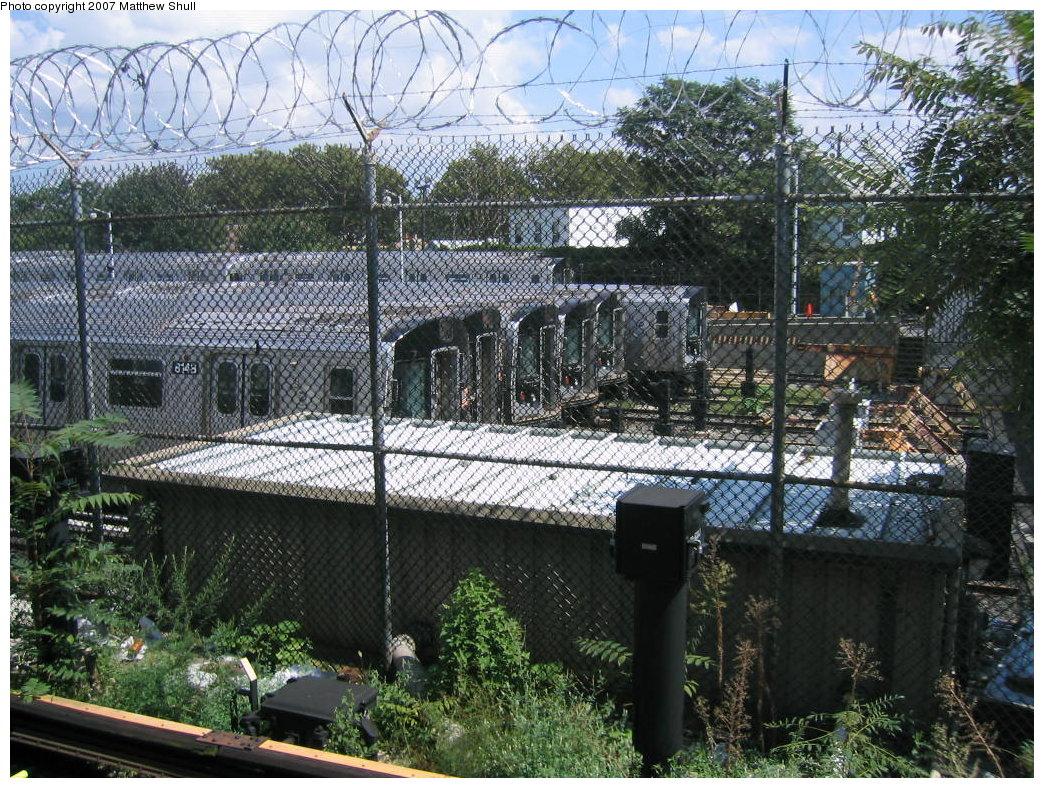 (300k, 1044x788)<br><b>Country:</b> United States<br><b>City:</b> New York<br><b>System:</b> New York City Transit<br><b>Location:</b> Rockaway Parkway (Canarsie) Yard<br><b>Car:</b> R-143 (Kawasaki, 2001-2002) 8148 <br><b>Photo by:</b> Matthew Shull<br><b>Date:</b> 8/27/2007<br><b>Viewed (this week/total):</b> 0 / 3056