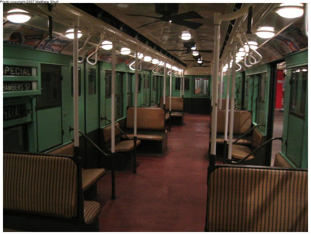(153k, 1044x788)<br><b>Country:</b> United States<br><b>City:</b> New York<br><b>System:</b> New York City Transit<br><b>Location:</b> New York Transit Museum<br><b>Car:</b> R-4 (American Car & Foundry, 1932-1933) 484 <br><b>Photo by:</b> Matthew Shull<br><b>Date:</b> 8/31/2007<br><b>Notes:</b> Interior<br><b>Viewed (this week/total):</b> 0 / 2237