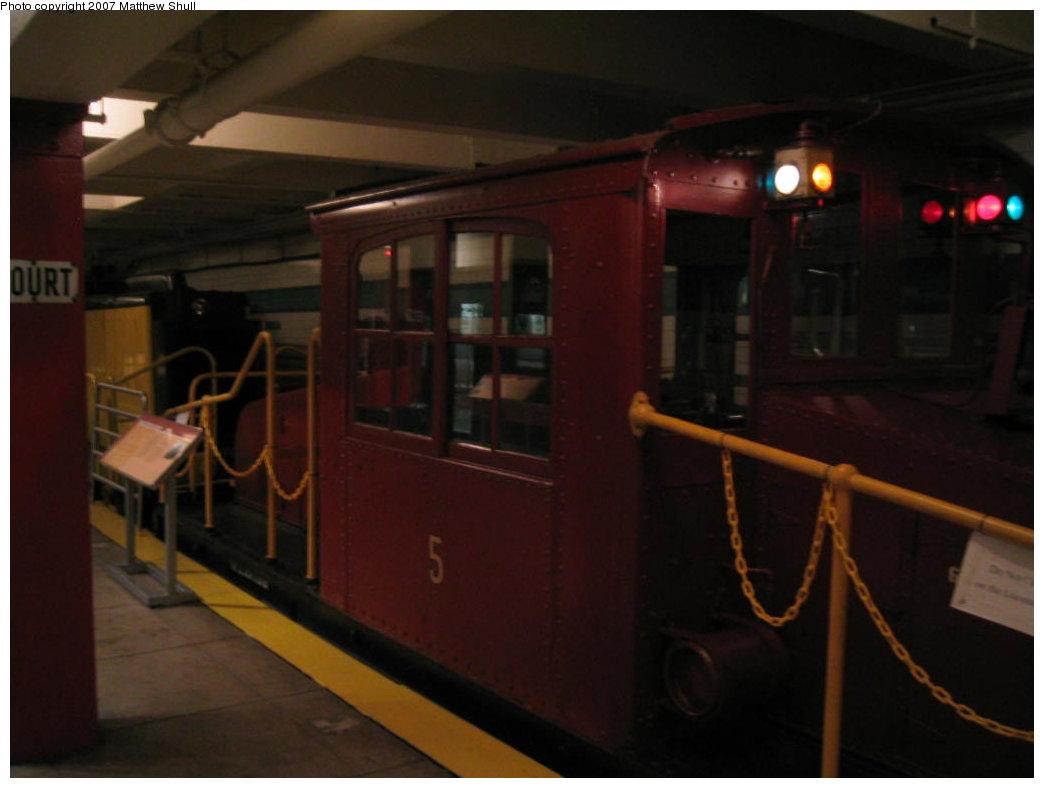 (103k, 1044x788)<br><b>Country:</b> United States<br><b>City:</b> New York<br><b>System:</b> New York City Transit<br><b>Location:</b> New York Transit Museum<br><b>Car:</b> SBK Steeplecab 5 <br><b>Photo by:</b> Matthew Shull<br><b>Date:</b> 8/31/2007<br><b>Viewed (this week/total):</b> 6 / 2049