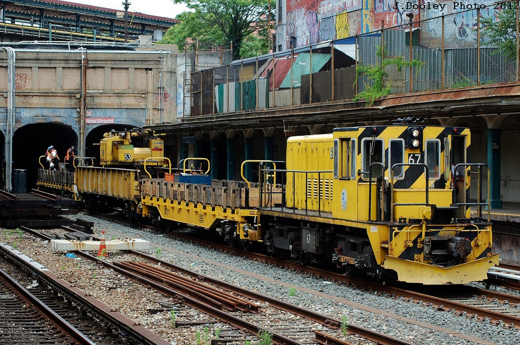 (493k, 1024x680)<br><b>Country:</b> United States<br><b>City:</b> New York<br><b>System:</b> New York City Transit<br><b>Line:</b> BMT Sea Beach Line<br><b>Location:</b> New Utrecht Avenue <br><b>Route:</b> Work Service<br><b>Car:</b> R-47 Locomotive  67 <br><b>Photo by:</b> John Dooley<br><b>Date:</b> 6/1/2012<br><b>Viewed (this week/total):</b> 1 / 839