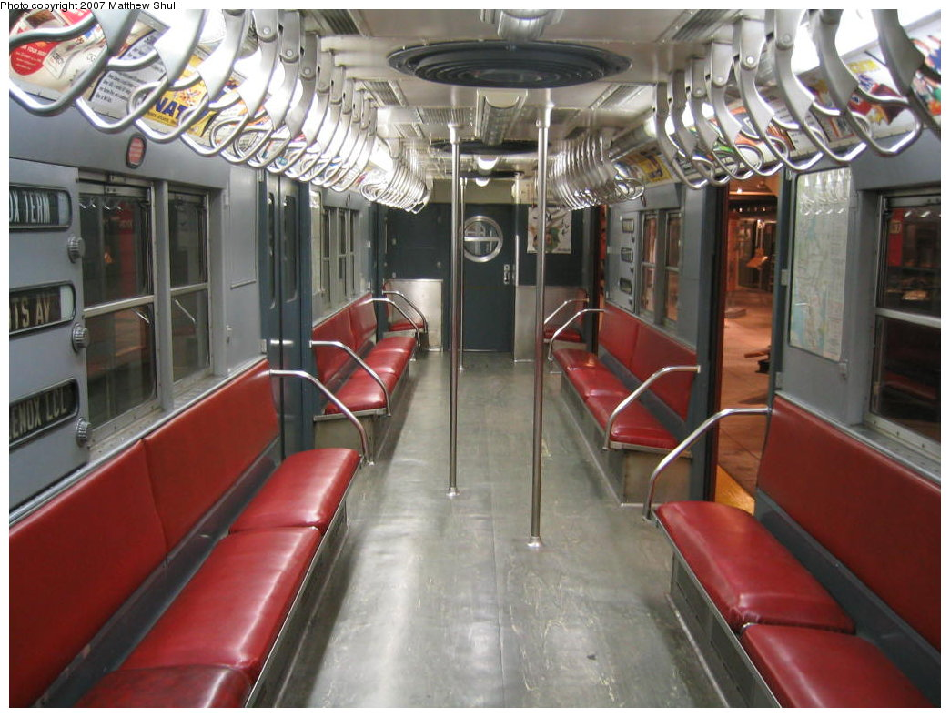 (178k, 1044x788)<br><b>Country:</b> United States<br><b>City:</b> New York<br><b>System:</b> New York City Transit<br><b>Location:</b> New York Transit Museum<br><b>Car:</b> R-17 (St. Louis, 1955-56) 6609 <br><b>Photo by:</b> Matthew Shull<br><b>Date:</b> 8/31/2007<br><b>Notes:</b> Interior<br><b>Viewed (this week/total):</b> 0 / 2075