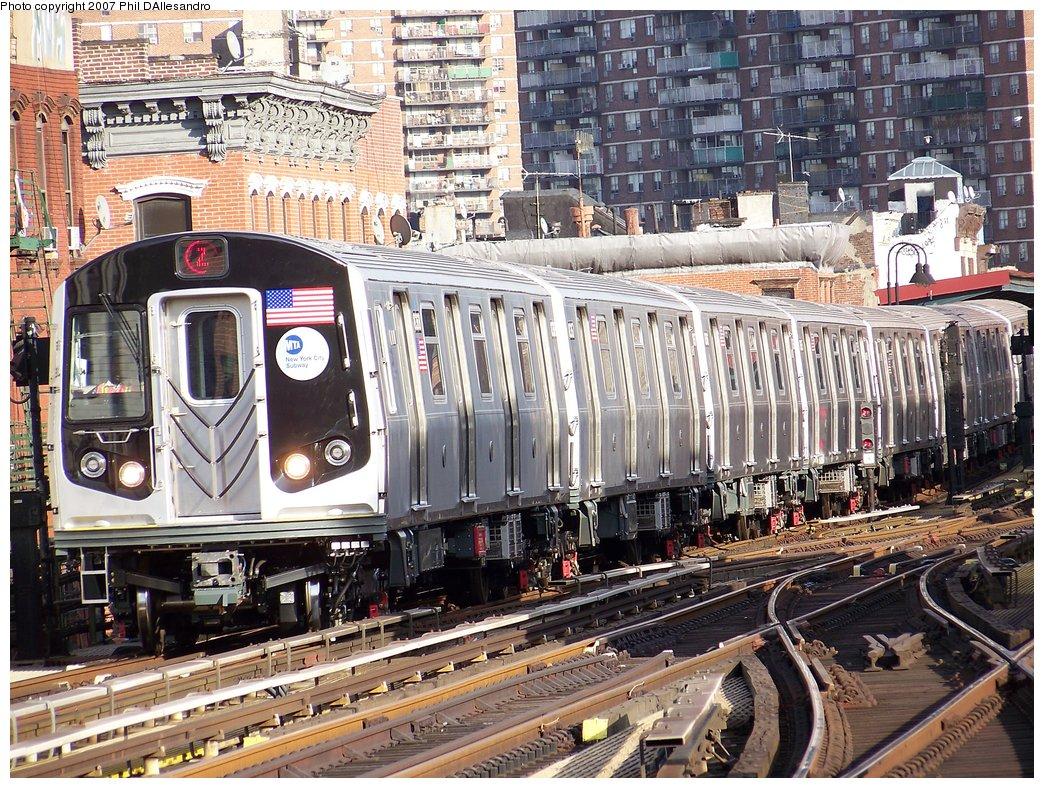 (300k, 1044x788)<br><b>Country:</b> United States<br><b>City:</b> New York<br><b>System:</b> New York City Transit<br><b>Line:</b> BMT Nassau Street/Jamaica Line<br><b>Location:</b> Marcy Avenue <br><b>Route:</b> Z<br><b>Car:</b> R-160A-1 (Alstom, 2005-2008, 4 car sets)  8368 <br><b>Photo by:</b> Philip D'Allesandro<br><b>Date:</b> 10/1/2007<br><b>Viewed (this week/total):</b> 1 / 3083